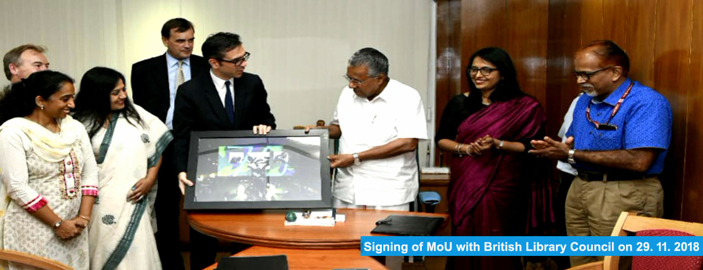 Signing of MoU with British Libarary Council